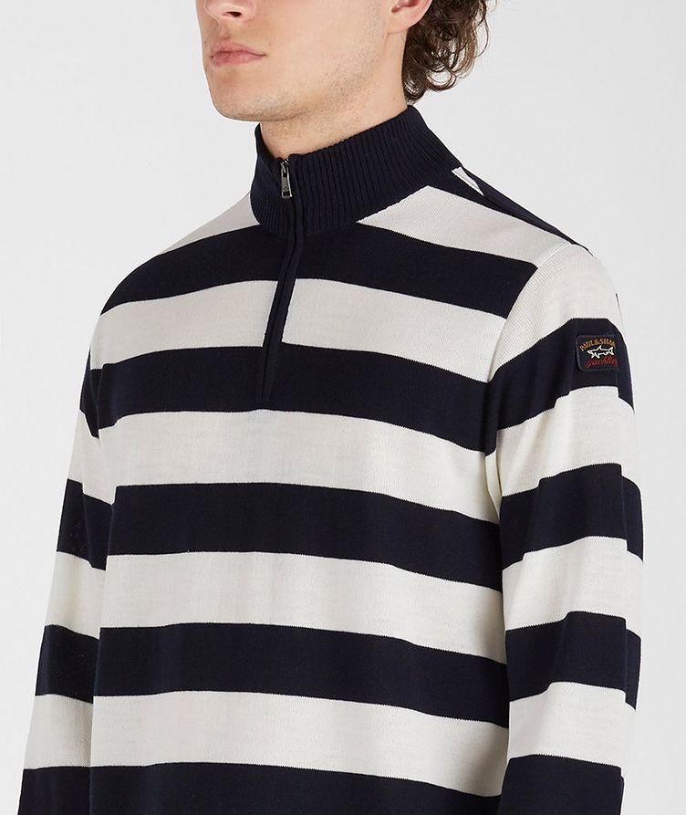 Half-Zip Striped Sweater image 3