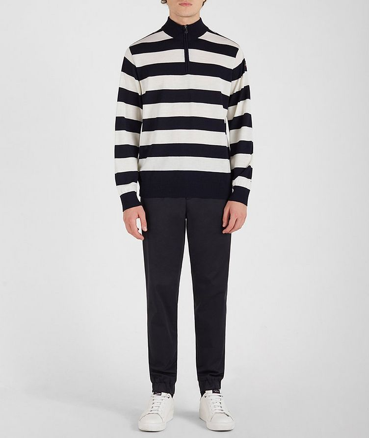 Half-Zip Striped Sweater image 4