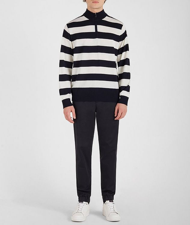 Half-Zip Striped Sweater picture 5