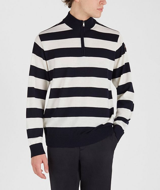 Half-Zip Striped Sweater picture 1