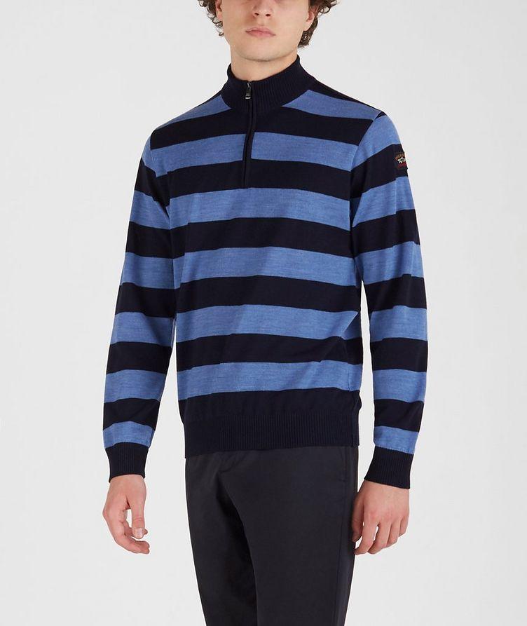 Half-Zip Striped Sweater  image 1