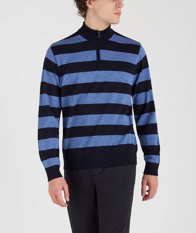 Half-Zip Striped Sweater  image 0