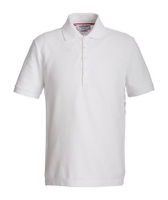 Thom Browne Striped Cotton Piqué Polo