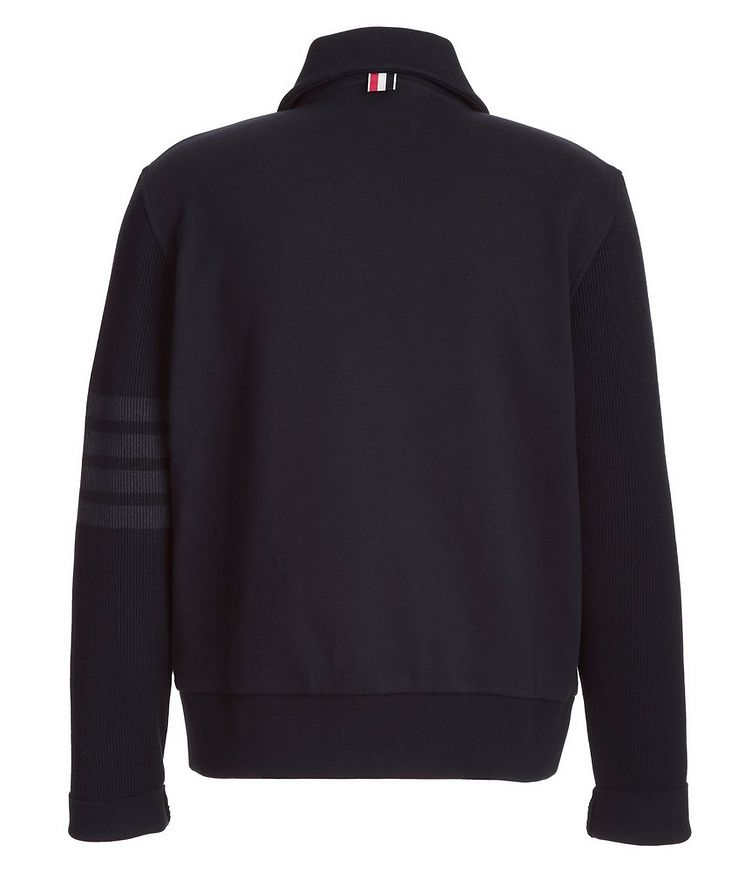 Cotton Zip-Up Sweater  image 1