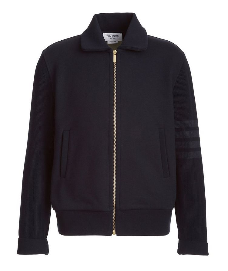 Cotton Zip-Up Sweater  image 0