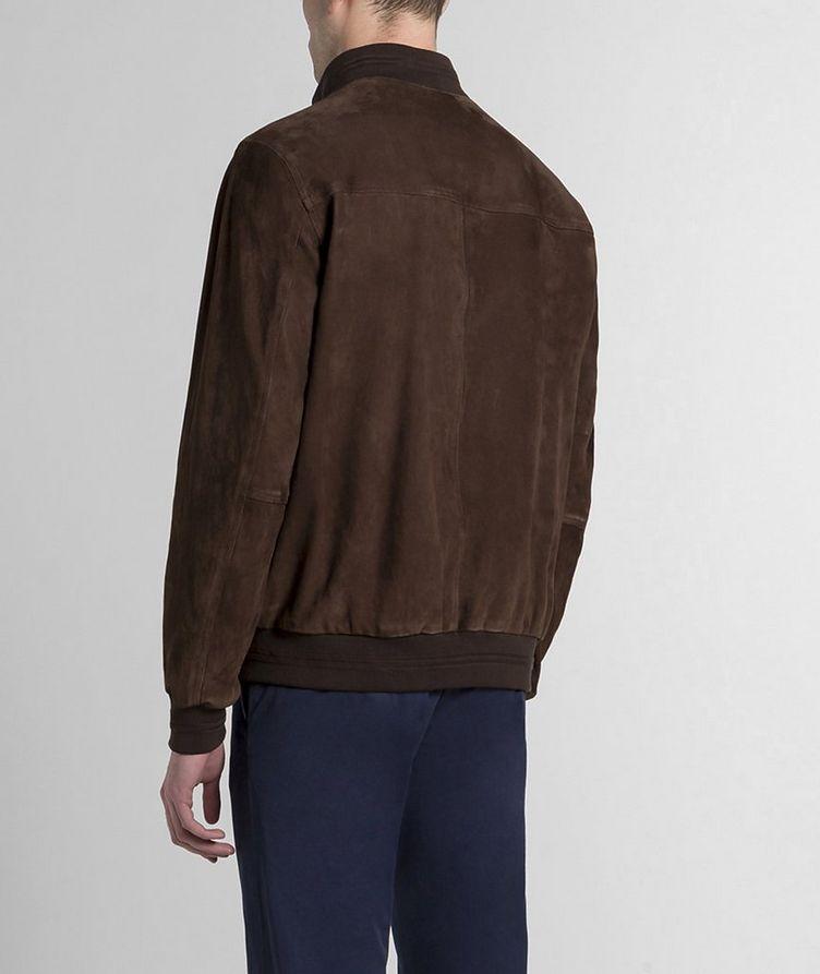 Aqua Leather Suede Jacket image 1