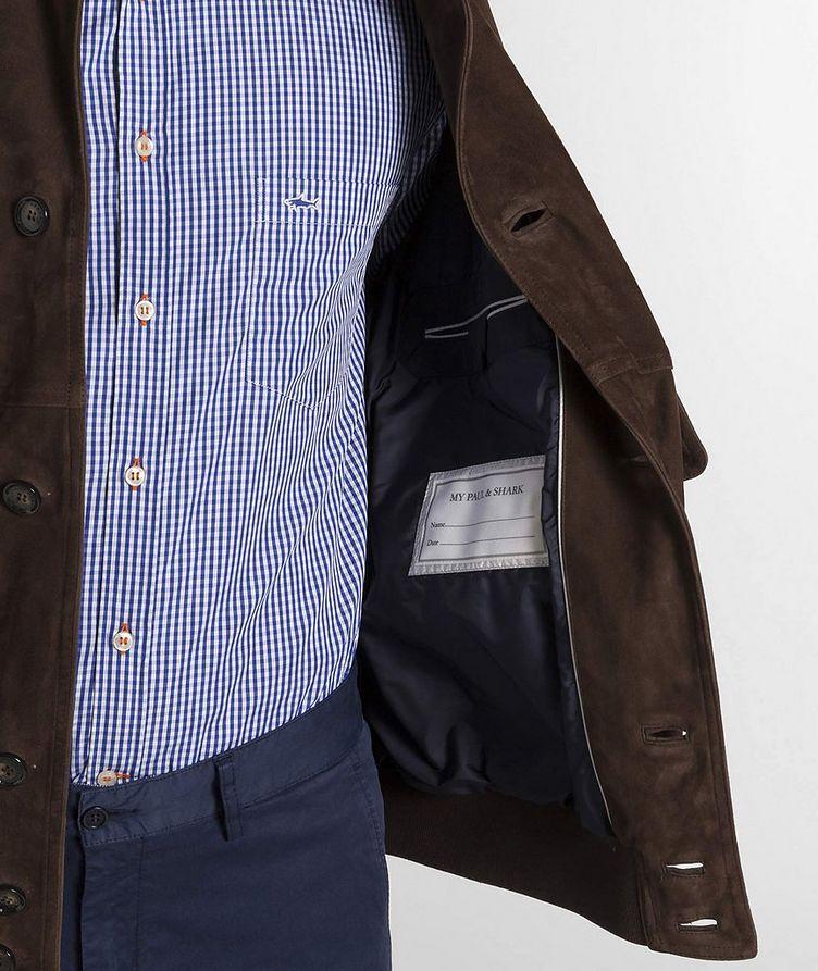 Aqua Leather Suede Jacket image 2