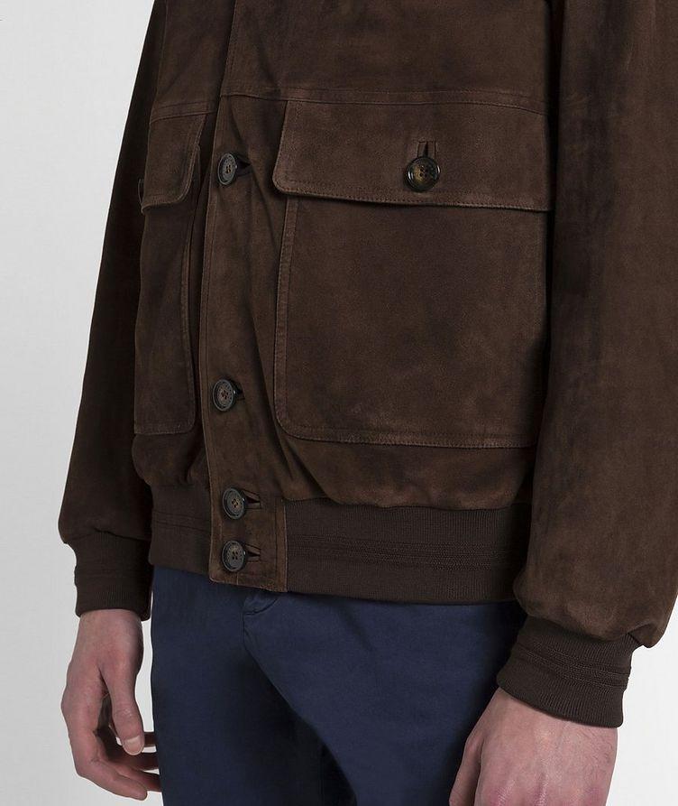Aqua Leather Suede Jacket image 3