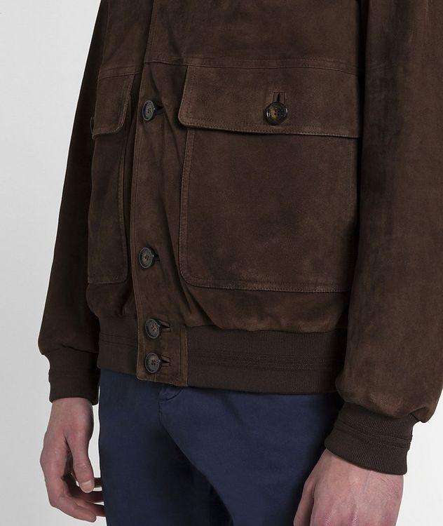 Aqua Leather Suede Jacket picture 4