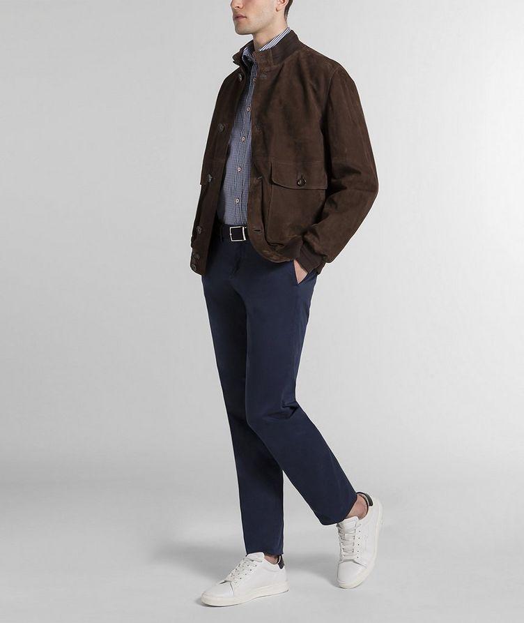 Aqua Leather Suede Jacket image 4