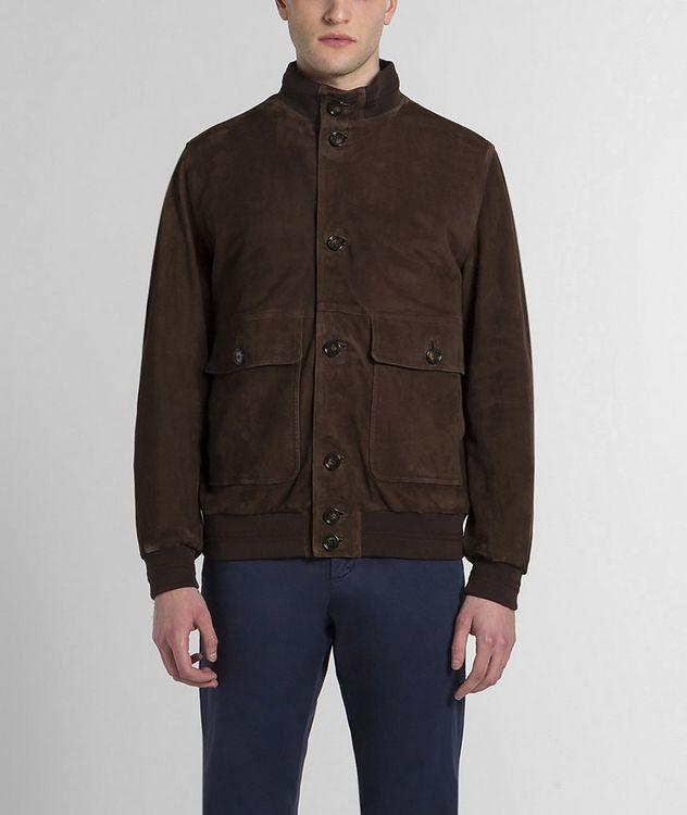 Aqua Leather Suede Jacket picture 1