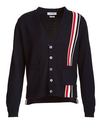 Thom Browne Striped Merino Wool Cardigan