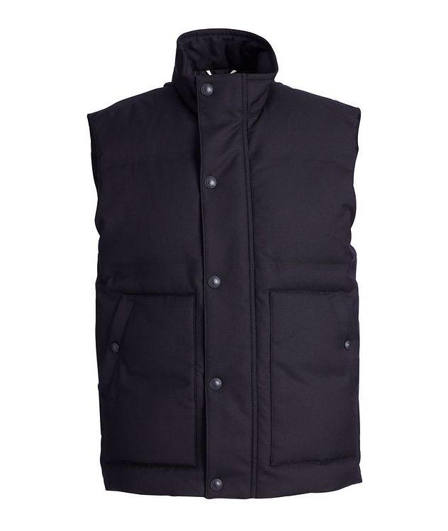 Down-Filled Snap-Front Twill Vest picture 1