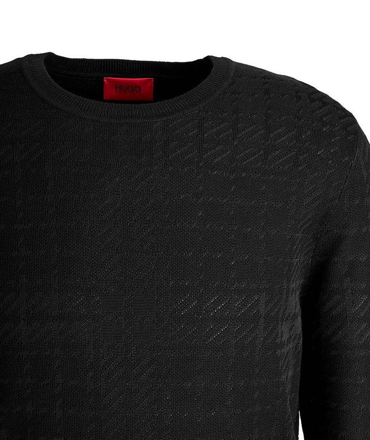 Shiny Cotton-Silk Sweater image 1