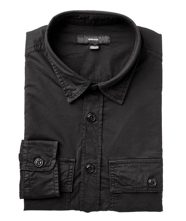 S-Allen-Ka Stretch-Cotton Cargo Shirt picture 1