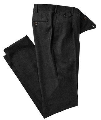 PT01 Pantalon en laine de coupe amincie