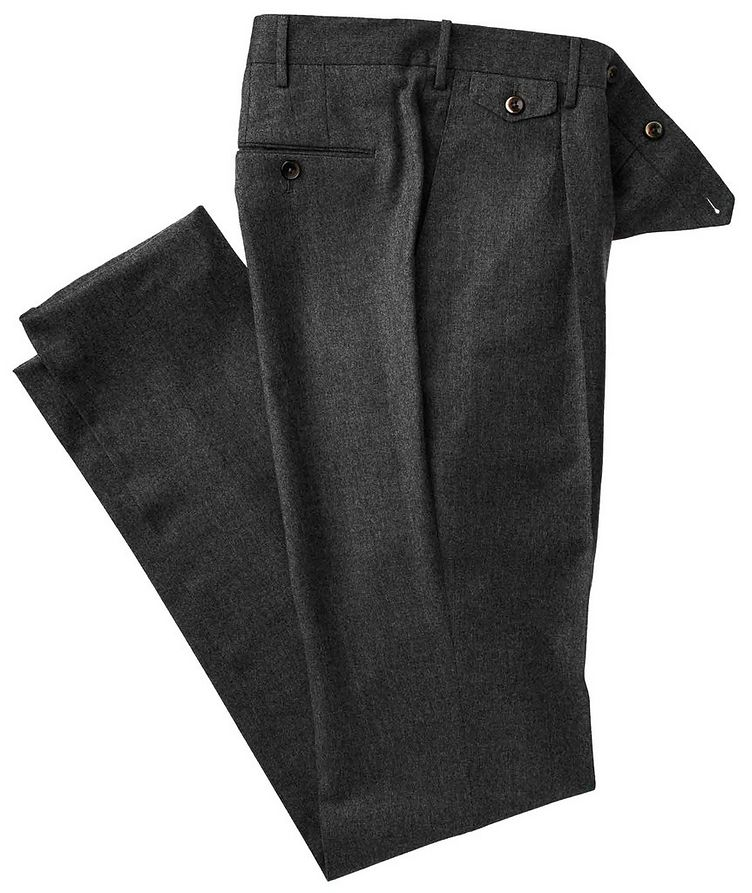 Slim Fit Wool Pants image 0