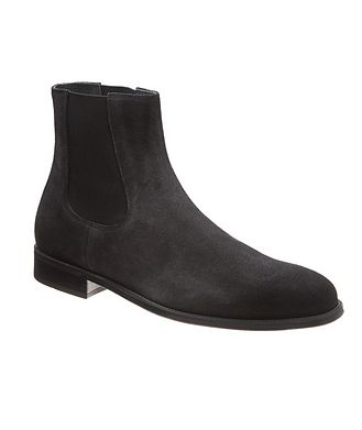 Doucal's for Harry Rosen Suede Chelsea Boots