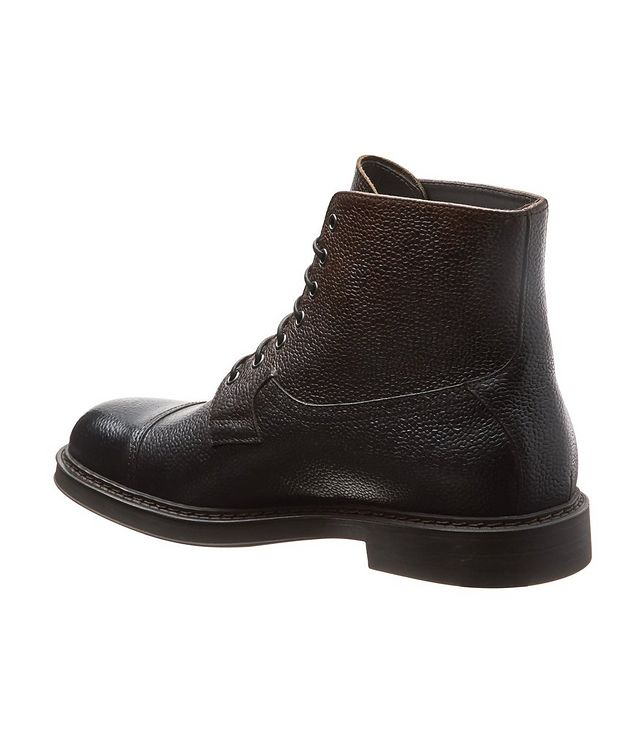 Leather Cap-Toe Boots picture 2