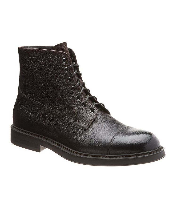 Leather Cap-Toe Boots image 0