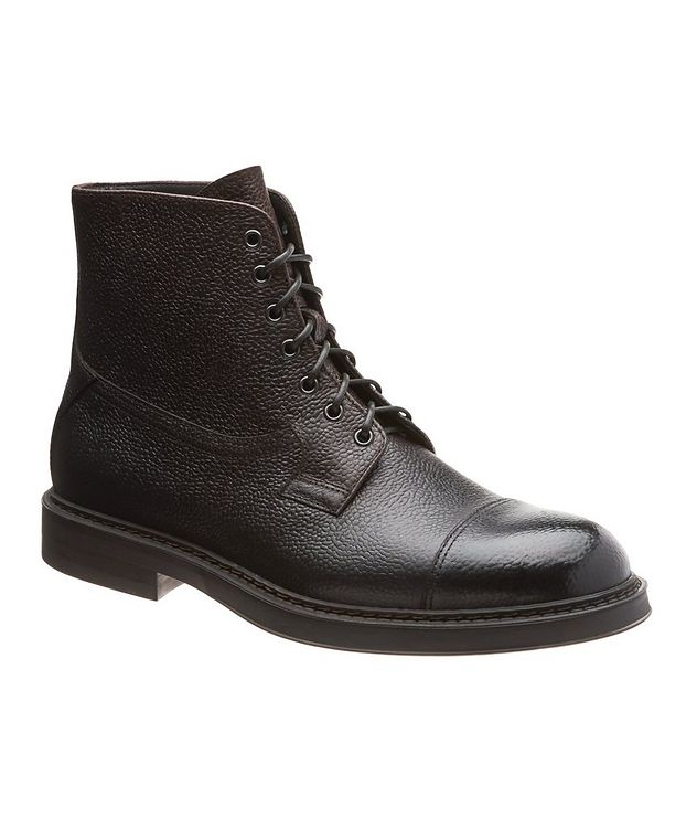 Leather Cap-Toe Boots picture 1