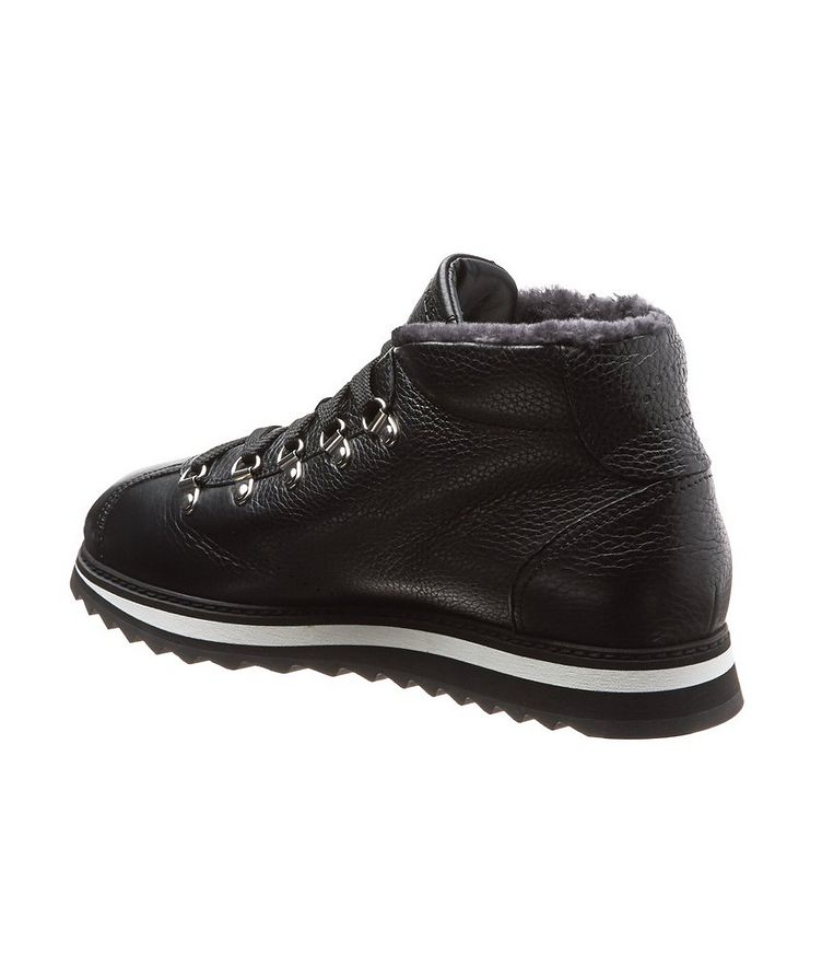 Leather-Shearling Alpine Boots image 1