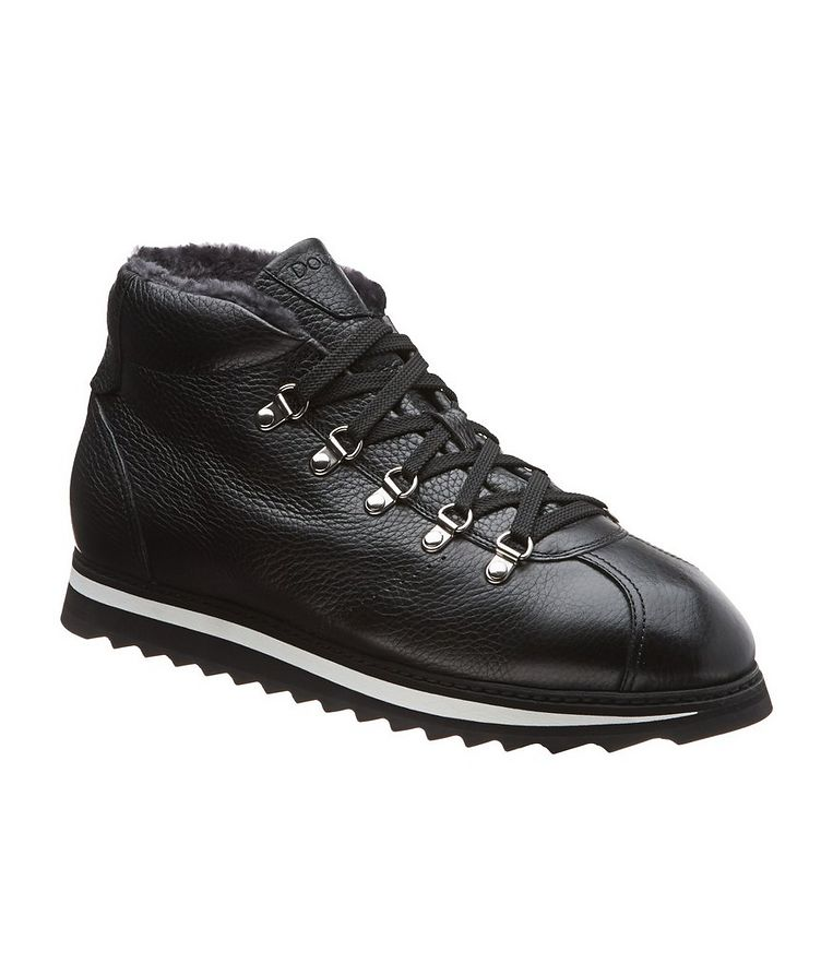 Leather-Shearling Alpine Boots image 0