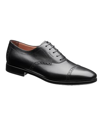 Salvatore Ferragamo Cap-Toe Calfskin Oxfords