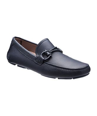 Salvatore Ferragamo Leather Gancini Bit Driving Shoes
