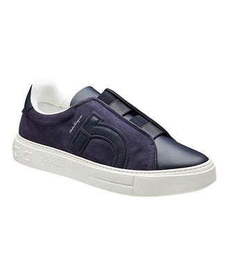 Salvatore Ferragamo Tasko Gancini Slip-On Sneakers