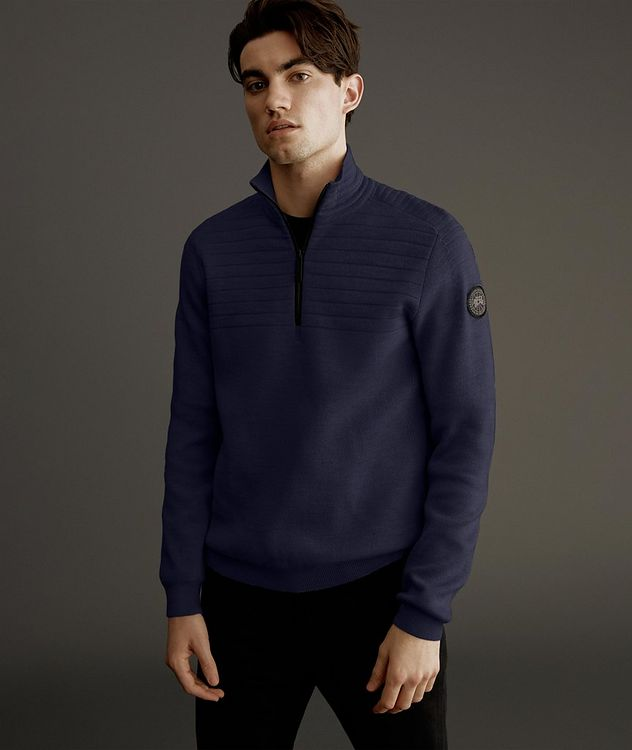 Clarke Half-Zip Wool-Blend Sweater picture 2