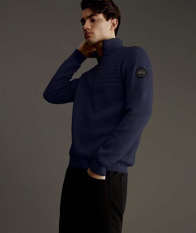 Clarke Half-Zip Wool-Blend Sweater image 3