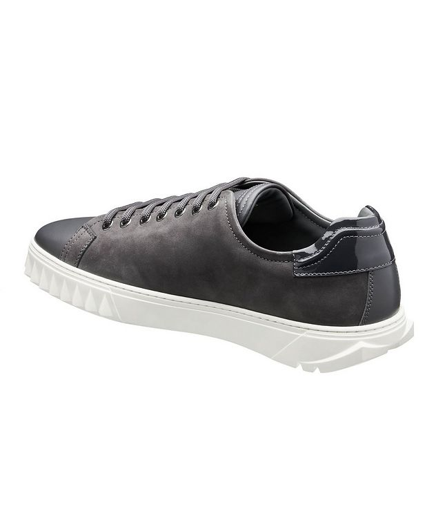 Cube Leather and Suede Sneakers picture 2