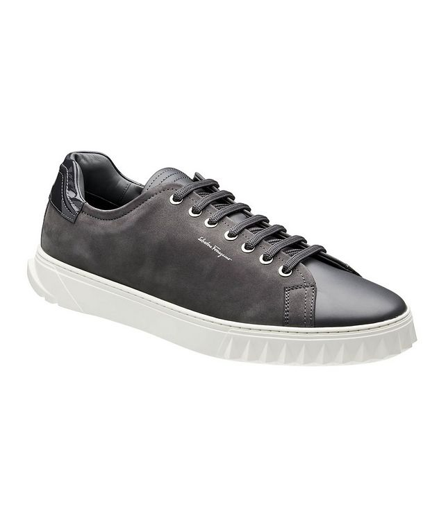 Cube Leather and Suede Sneakers picture 1