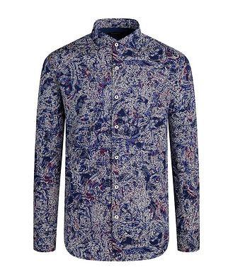 Bugatchi Art-Printed Cotton Shirt