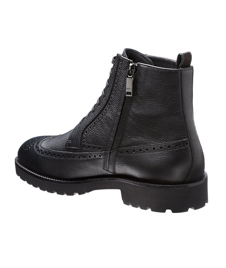 Leather Wingtip Boots image 1