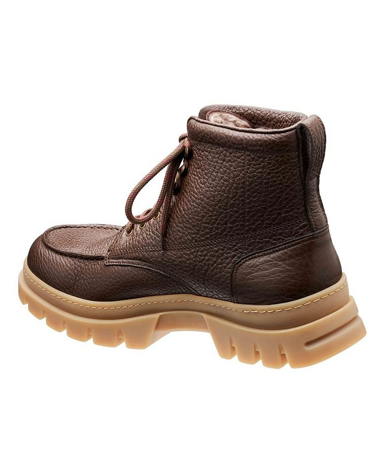 Fur-Lined Deerskin Boots image 1