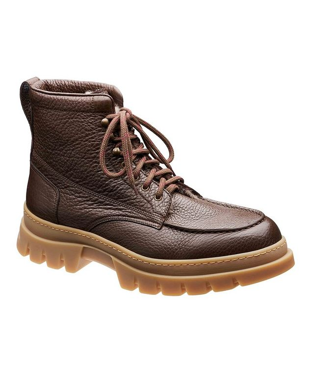 Fur-Lined Deerskin Boots picture 1