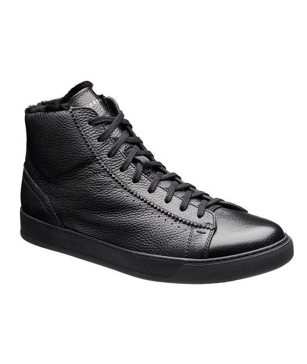 Collin High-Top Deerskin Sneakers picture 1