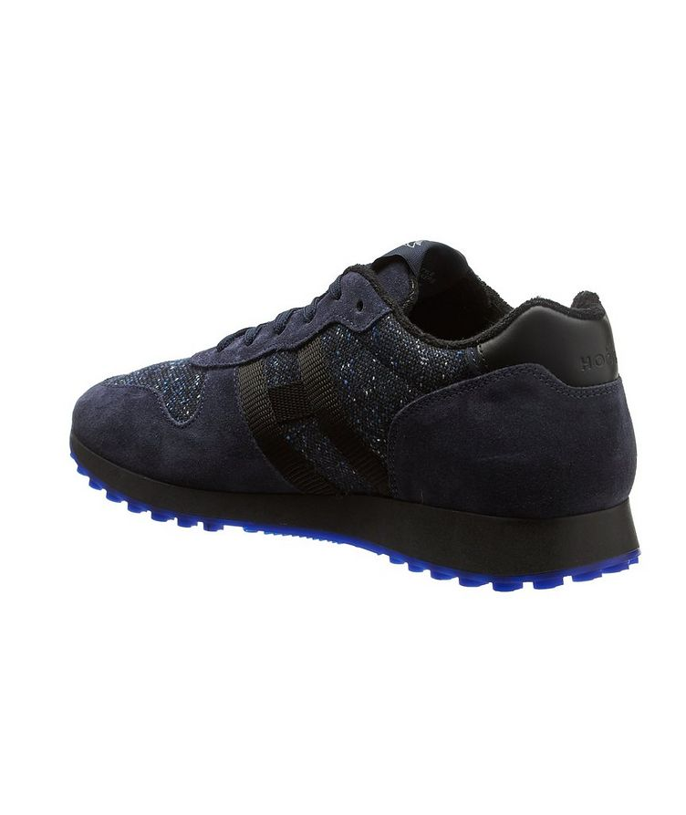 Suede & Knit Sneakers image 1