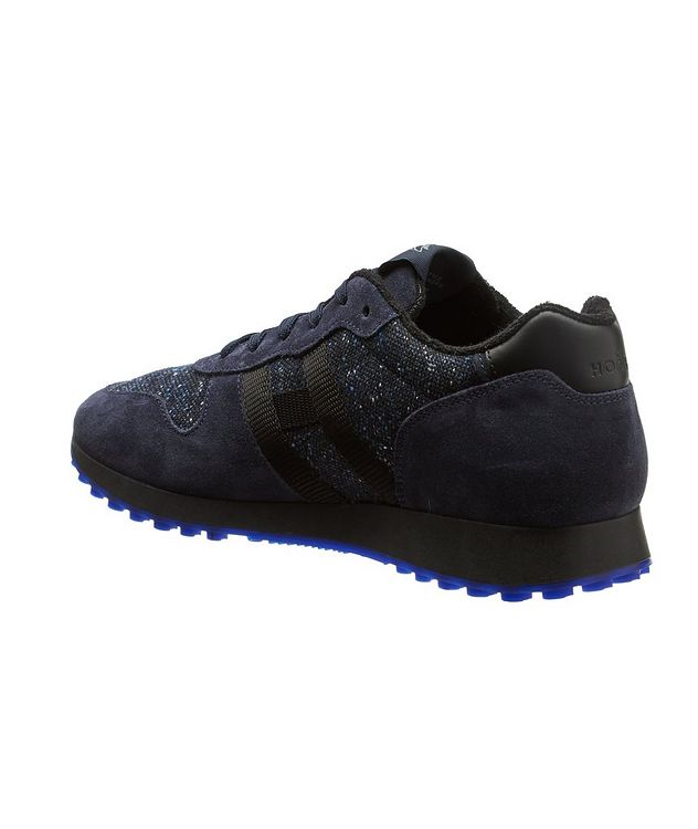Suede & Knit Sneakers picture 2