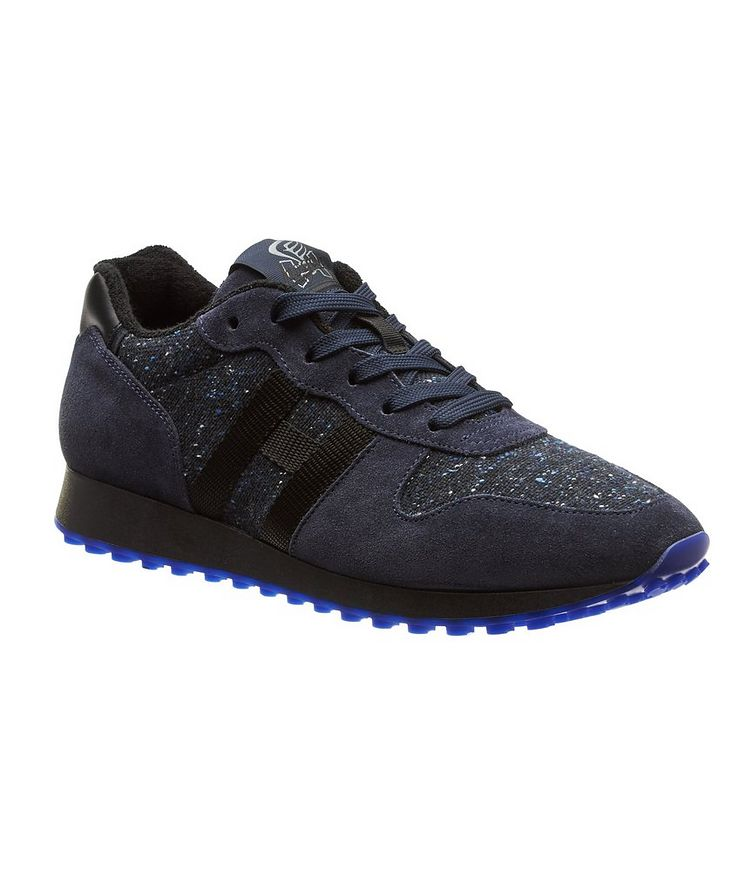 Suede & Knit Sneakers image 0