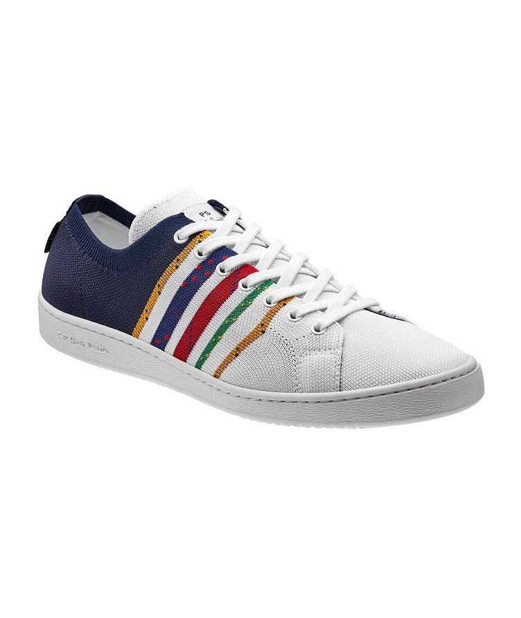 Miyata Striped Sock-Knit Sneakers image 0