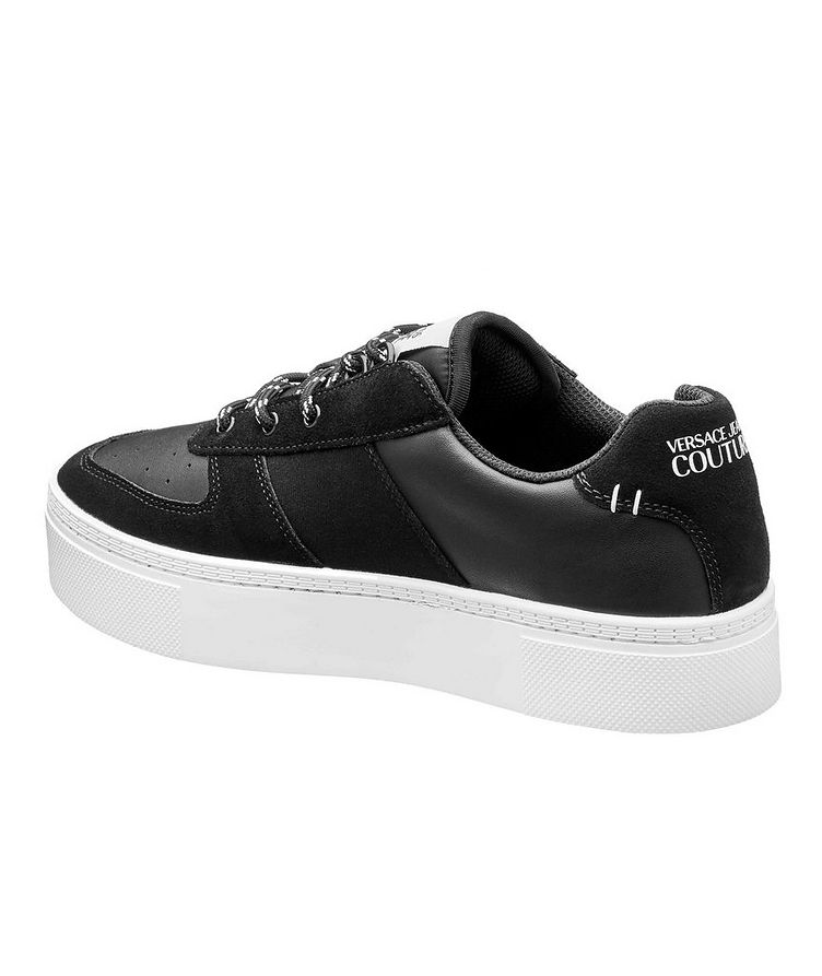 Leather and Suede Logo Sneakers image 1