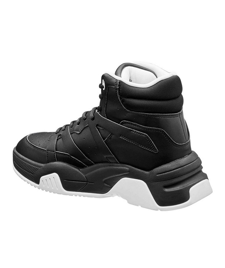 High-Top Leather Sneakers image 1