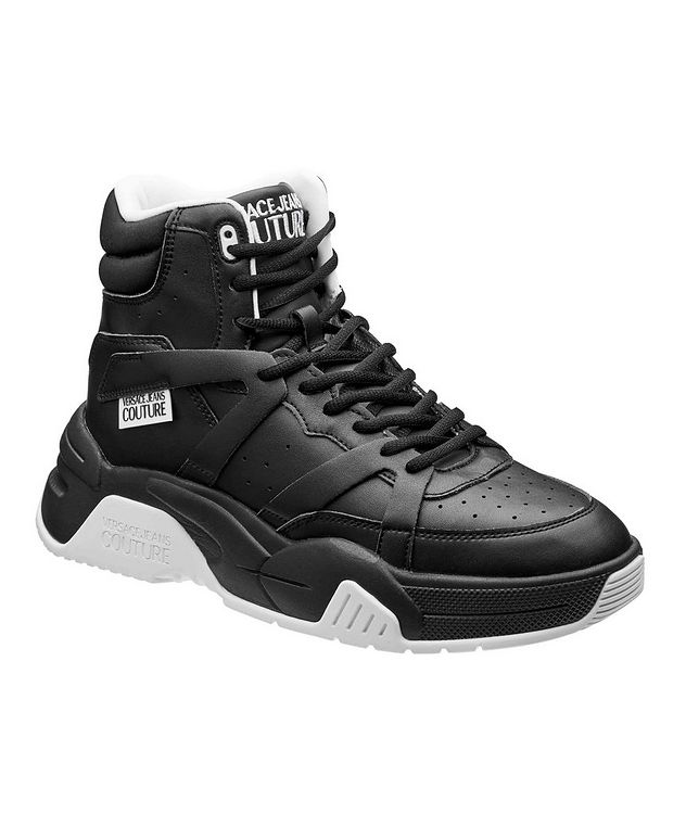 High-Top Leather Sneakers picture 1