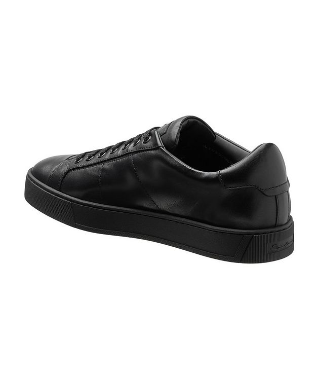 Leather Low-Top Sneakers picture 2