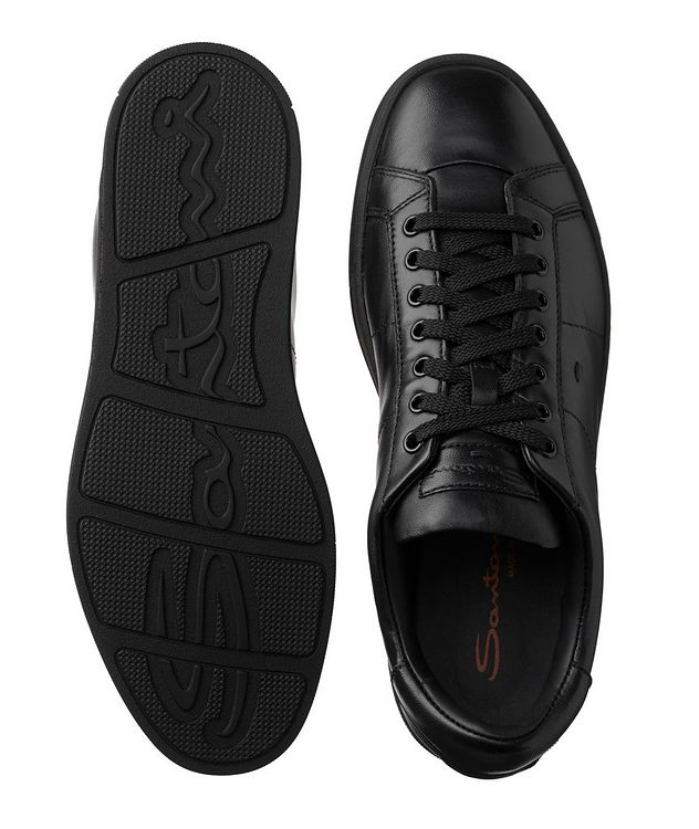 Leather Low-Top Sneakers picture 3