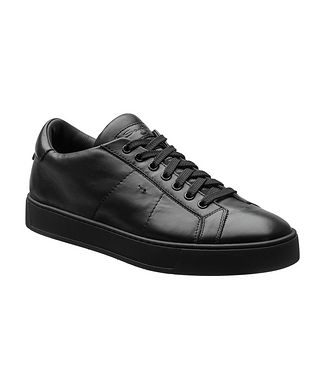 Santoni Leather Low-Top Sneakers