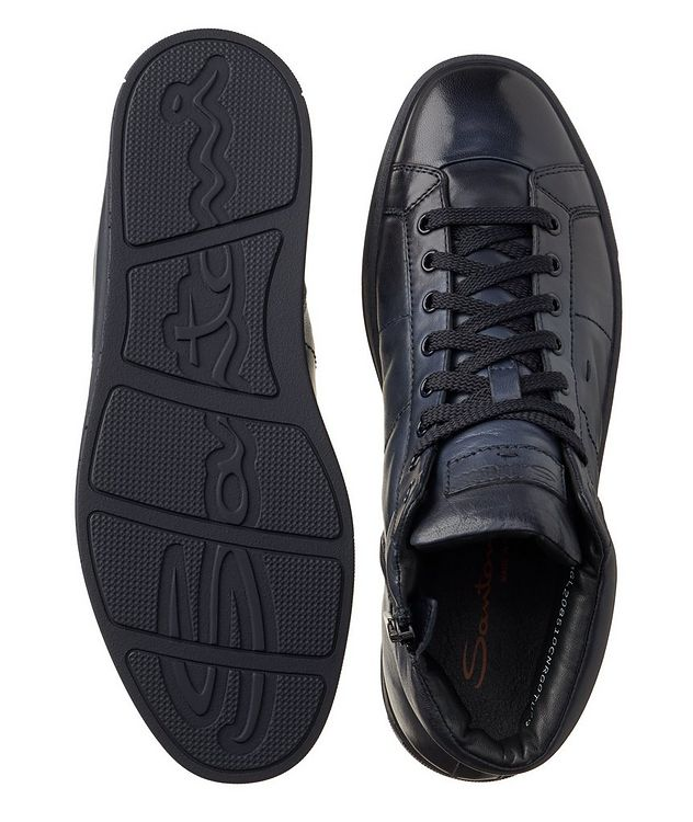 High-Top Leather Sneakers picture 3